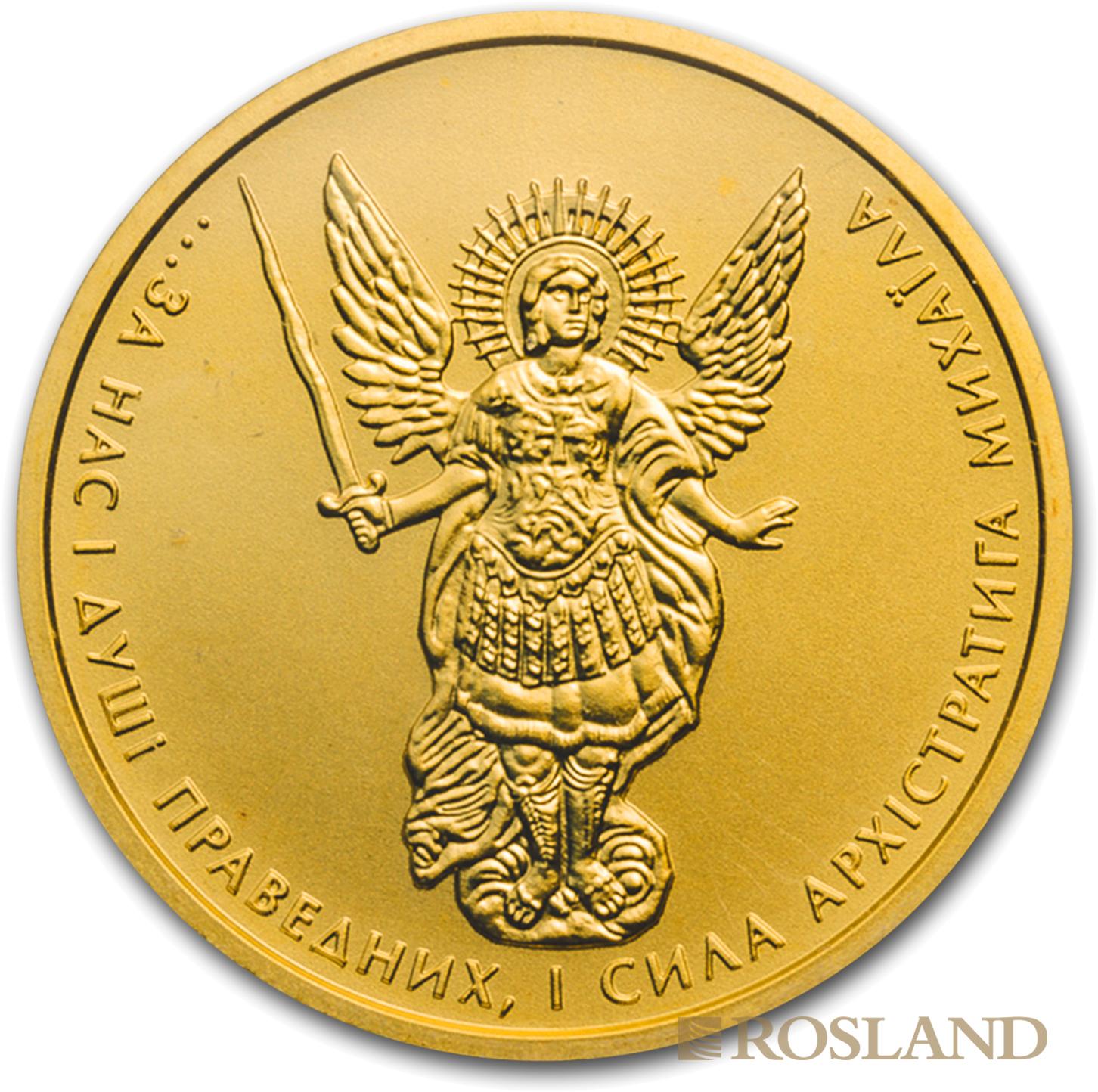 1/2 Unze Goldmünze Ukraine Erzengel Michael 2015