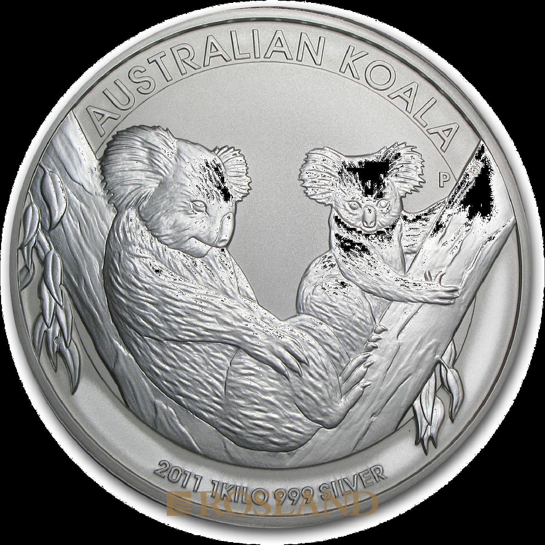 1 Kilogramm Silbermünze Koala 2011