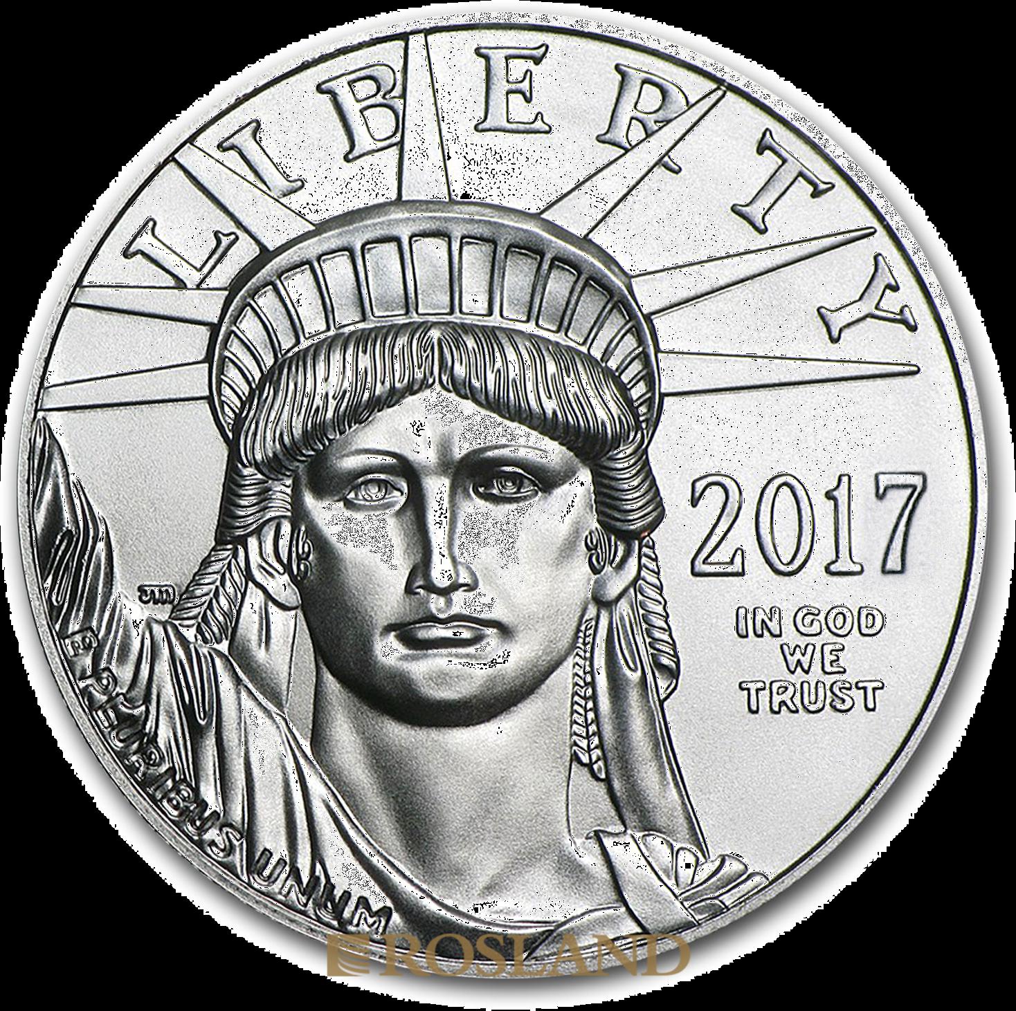 1 Unze Platinmünze American Eagle 2017