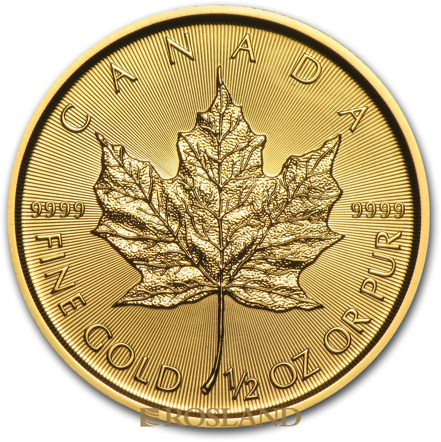 1/2 Unze Goldmünze Kanada Maple Leaf 2015