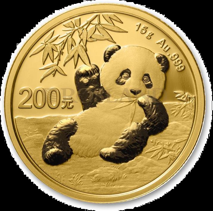 15 Gramm Goldmünze China Panda 2020