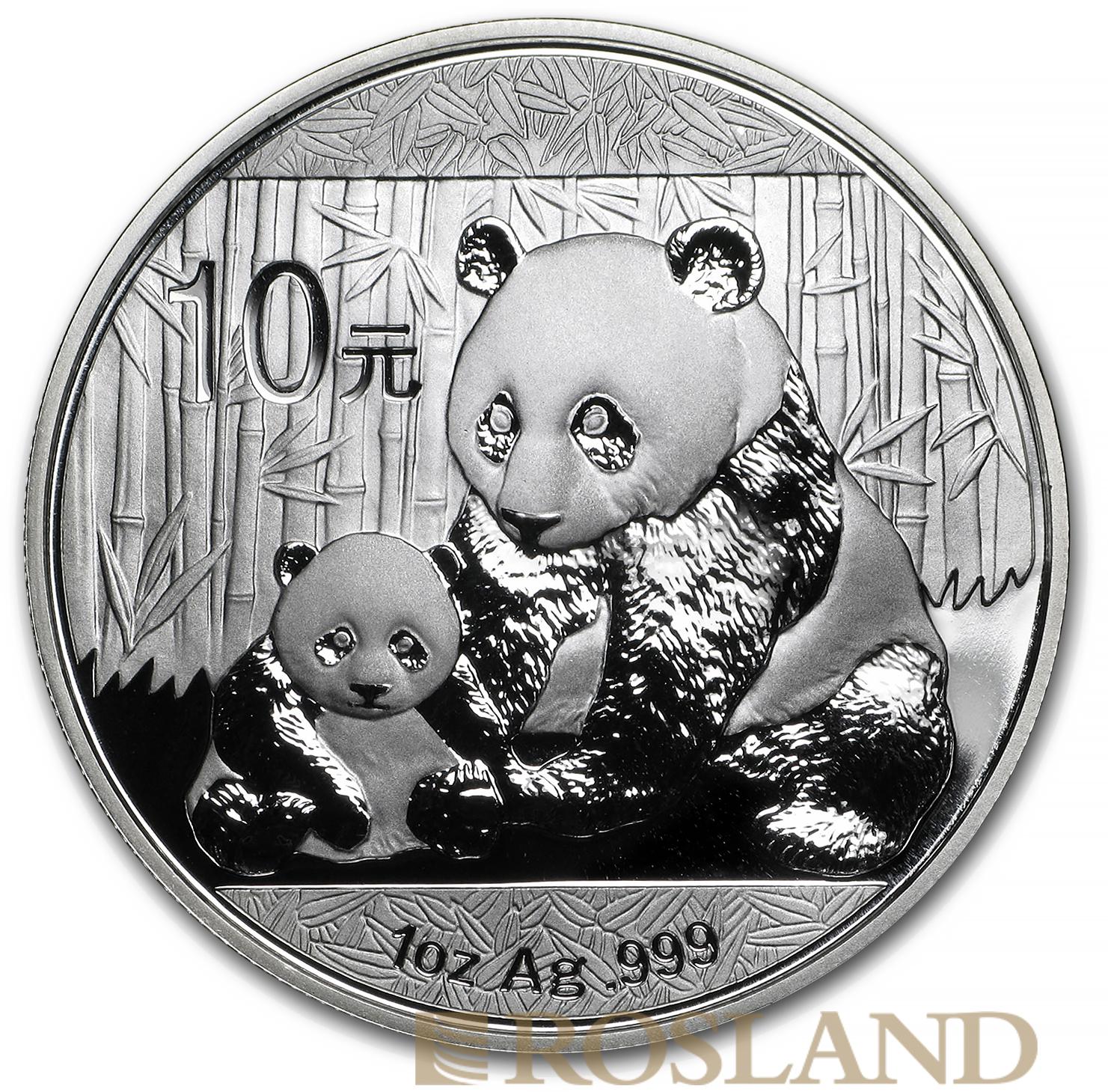 1 Unze Silbermünze China Panda 2012