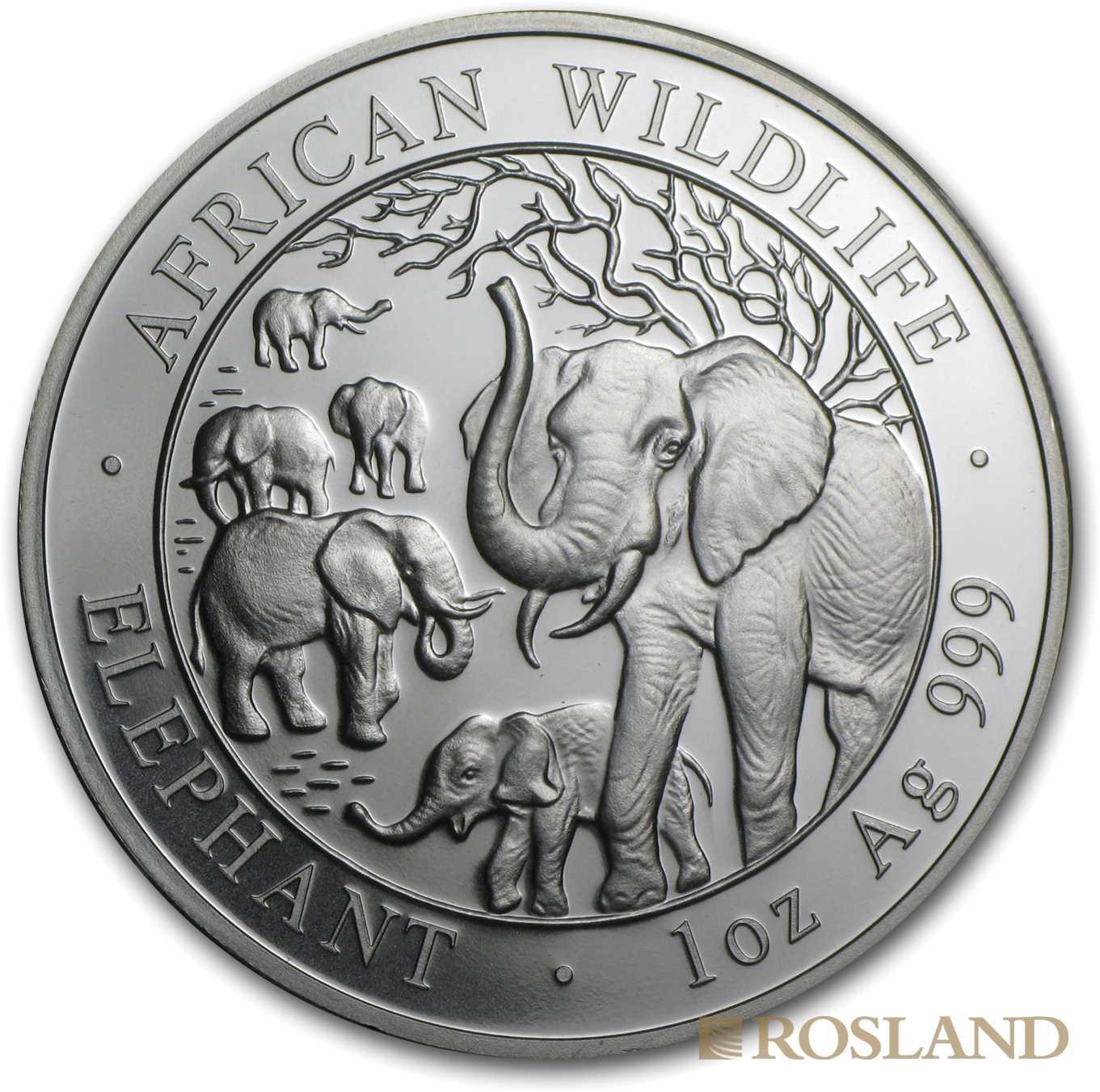 1 Unze Silbermünze Somalia Elefant 2008