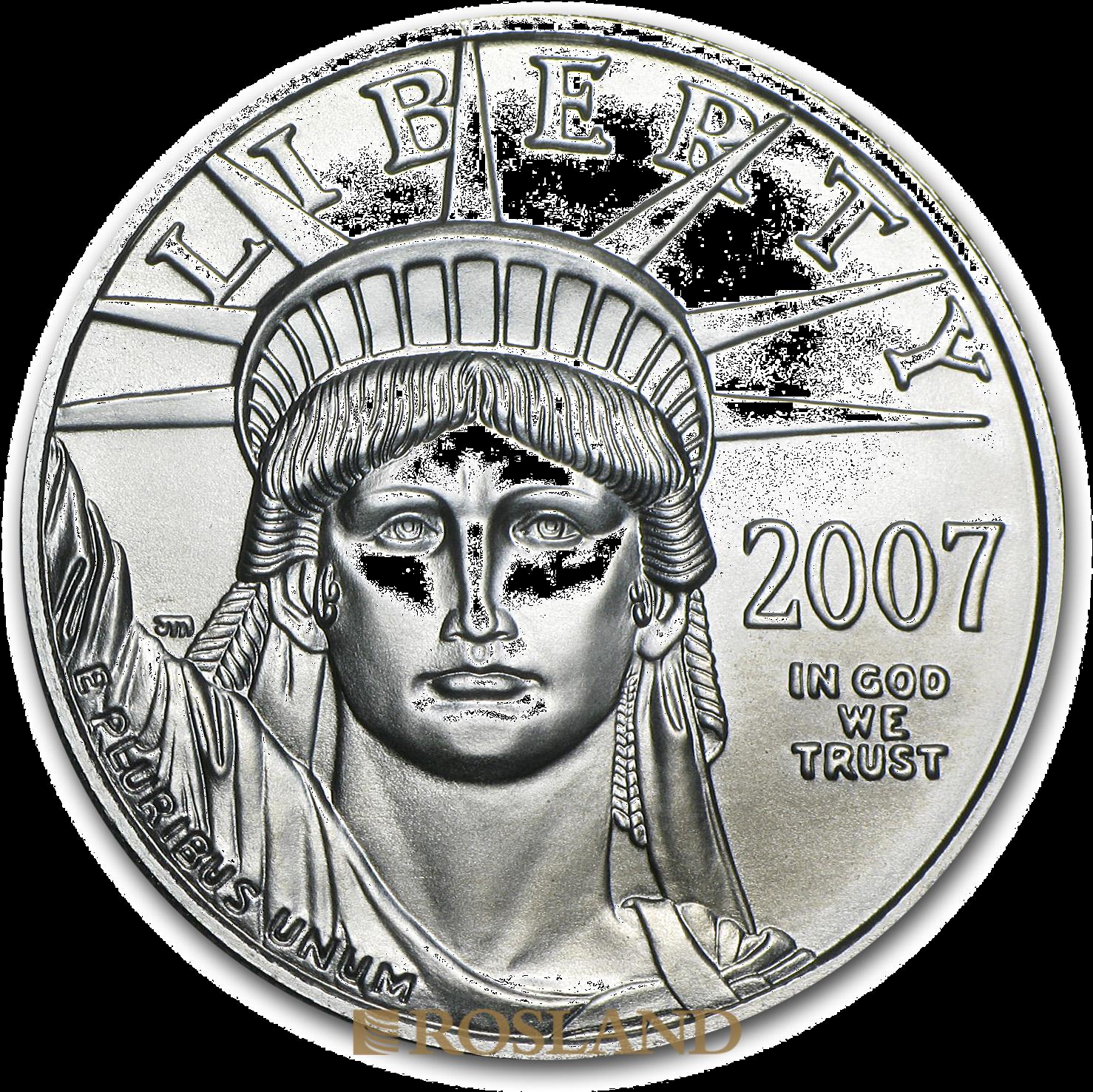 1 Unze Platinmünze American Eagle 2007