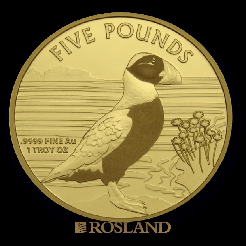 1 Unze Goldmünze Sunshine Mint Alderney Puffin 2019 (Zertifikat)