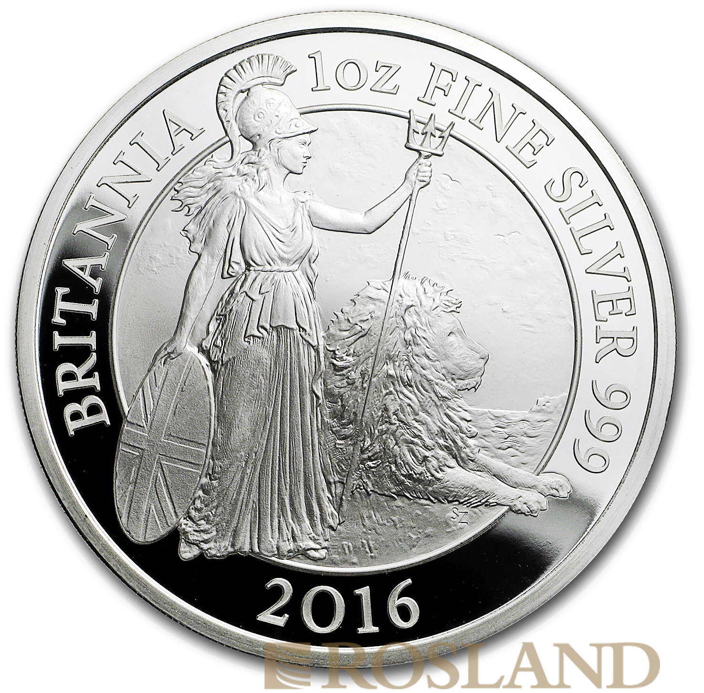 1 Unze Silbermünze Britannia 2016 PP (Box, Zertifikat)