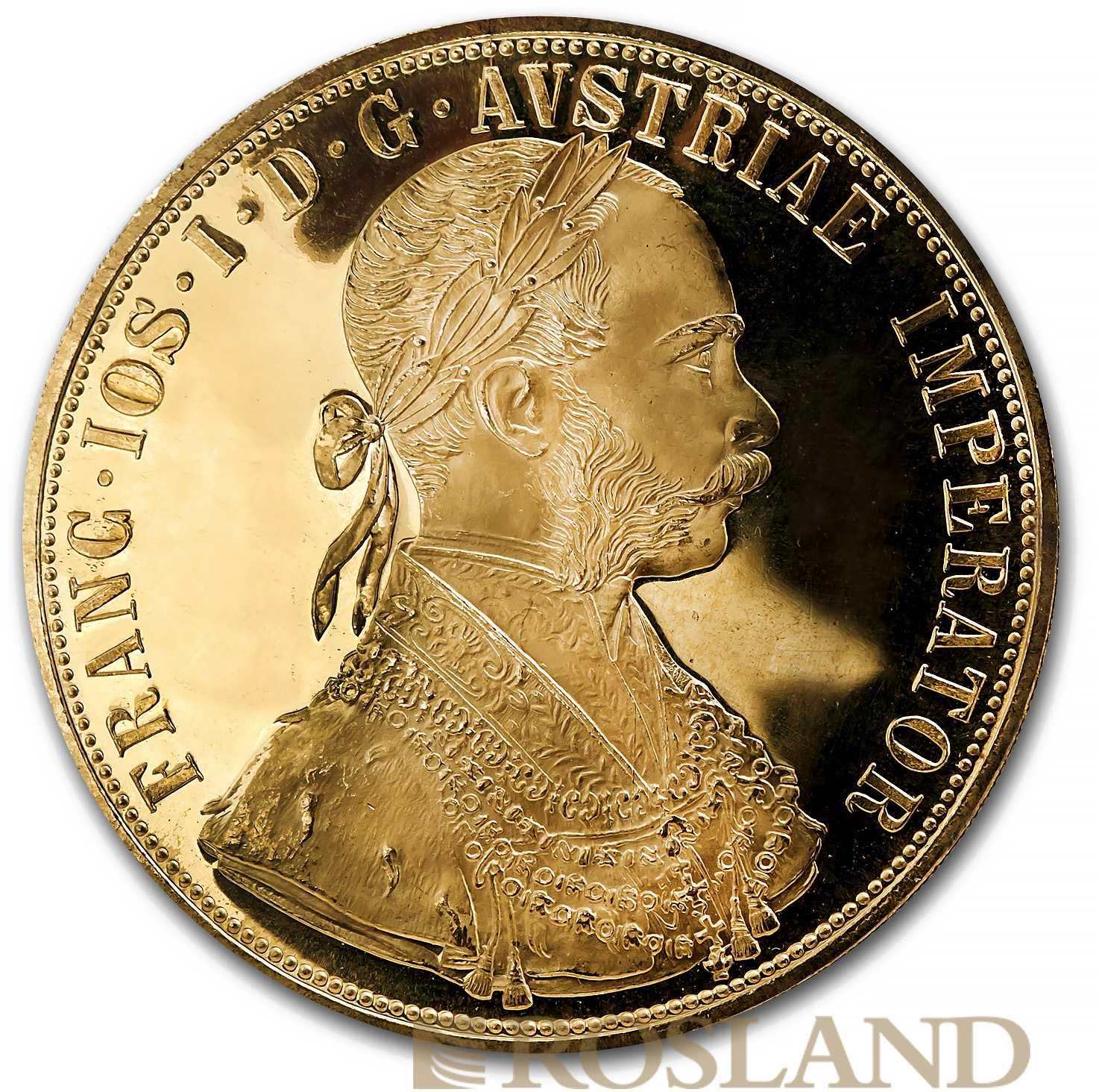 4 Gold-Dukaten Münze Österreich 1915