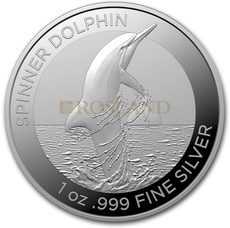 1 Unze Silbermünze Spinner Dolphin 2020