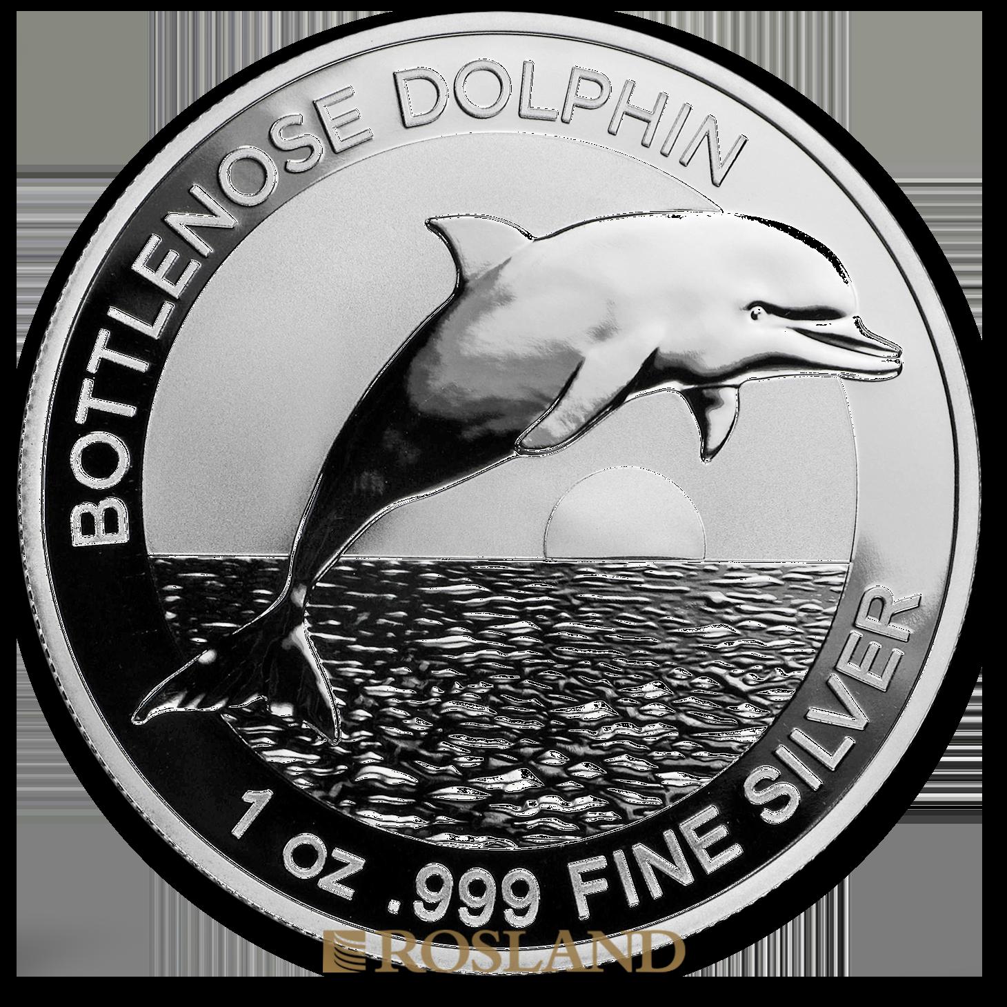 1 Unze Silbermünze Bottlenose Dolphin 2019 PCGS MS-70 First Day