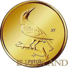 20 Euro Goldmünze Heimische Vögel - Pirol 2017 Hamburg (J)