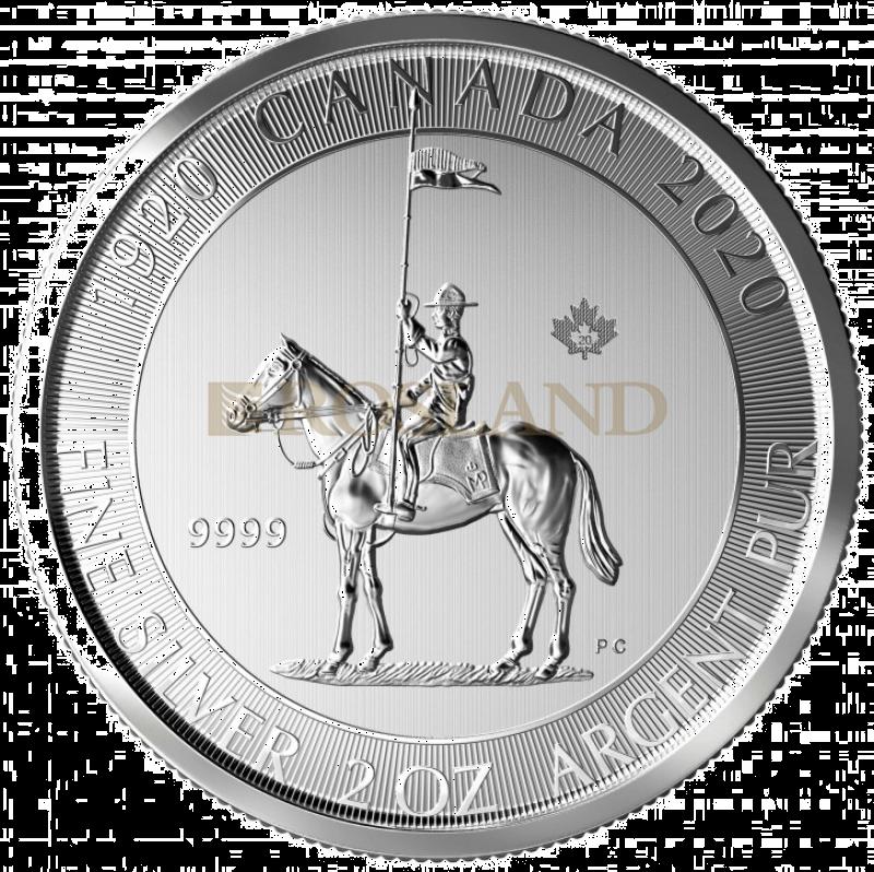 2 Unzen Silbermünze Canada 100 Jahre Mounted Police 2020