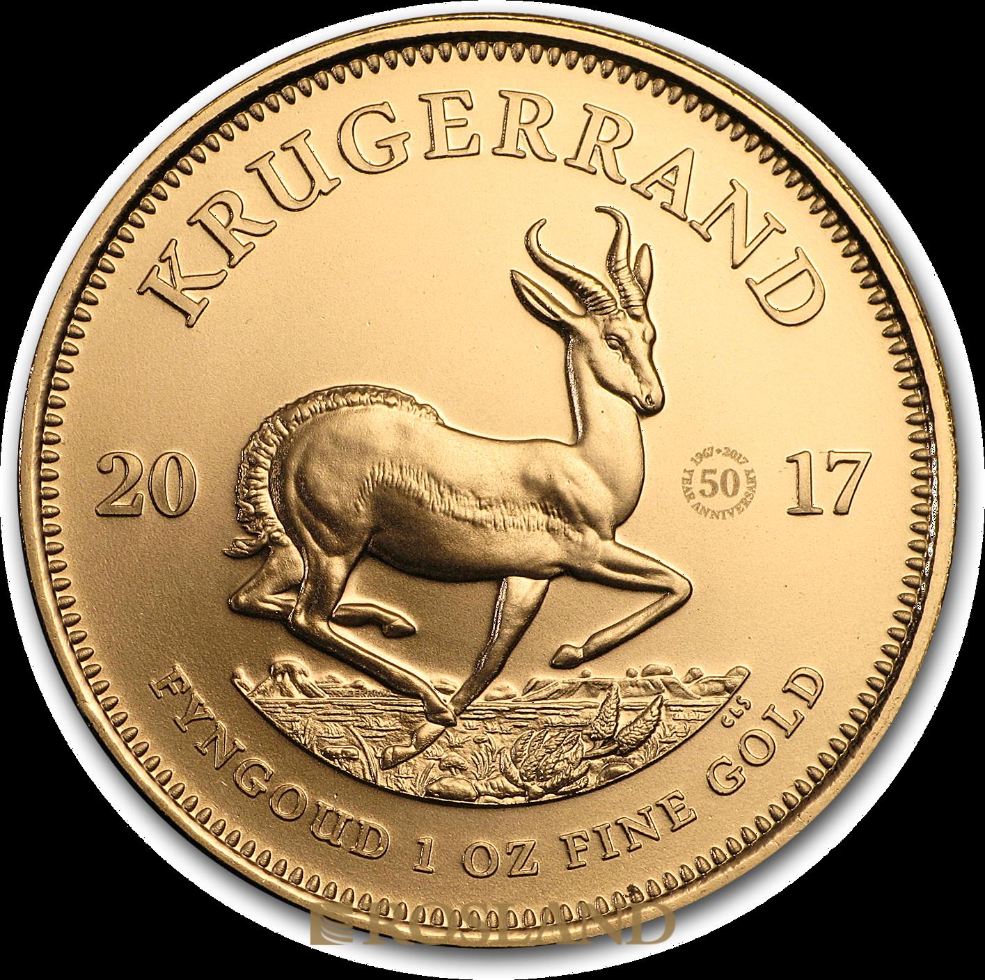 1 Unze Goldmünze Krügerrand 50 Jahre Jubiläum 2017
