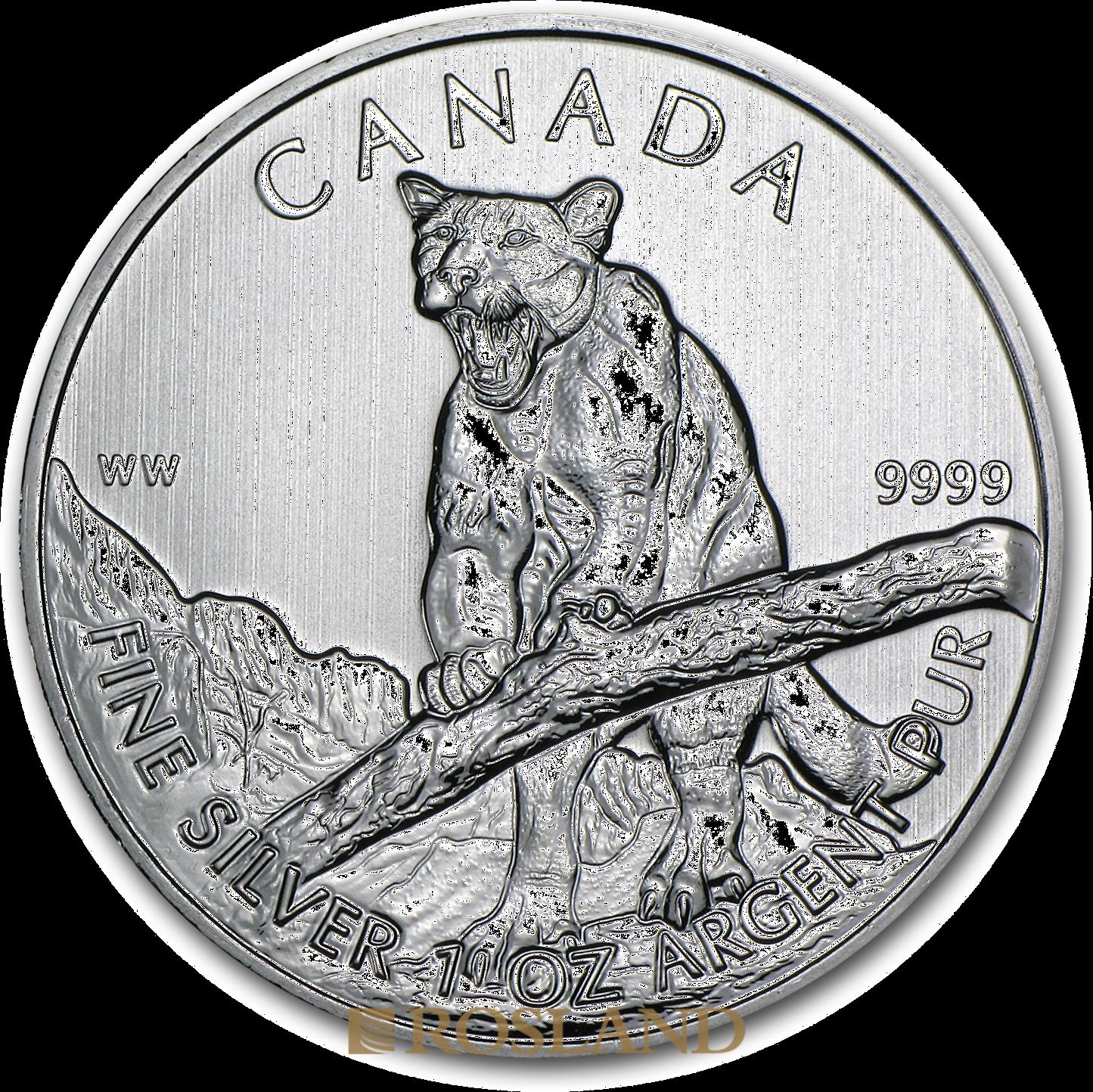 1 Unze Silbermünze Wildlife Puma 2012