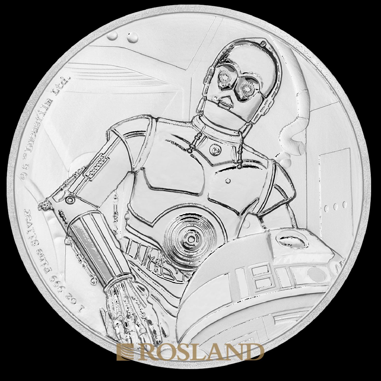 1 Unze Silbermünze Star Wars™ C-3PO 2017 PP (Box, Zertifikat)