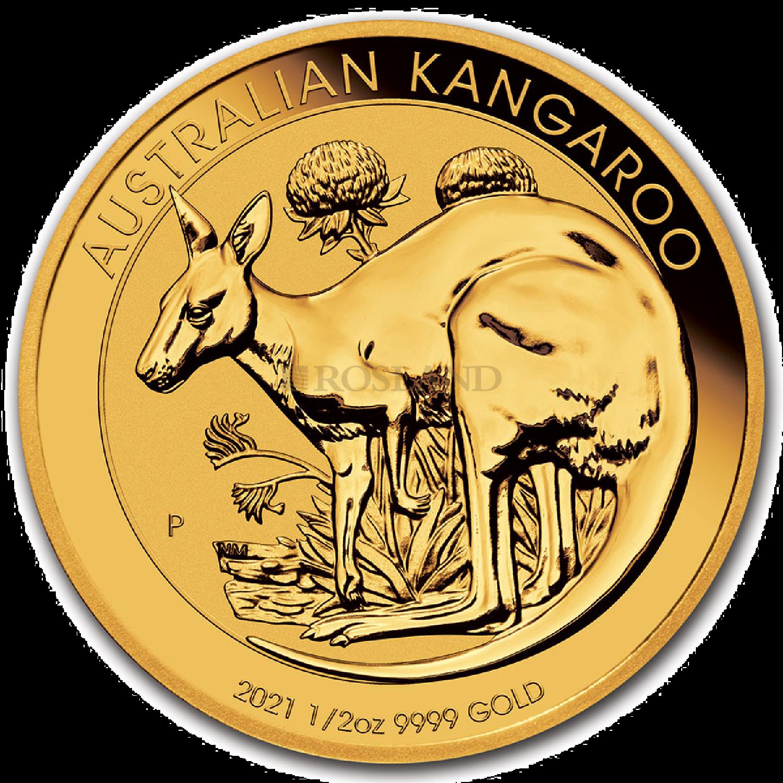 1/2 Unze Goldmünze Australien Känguru 2021
