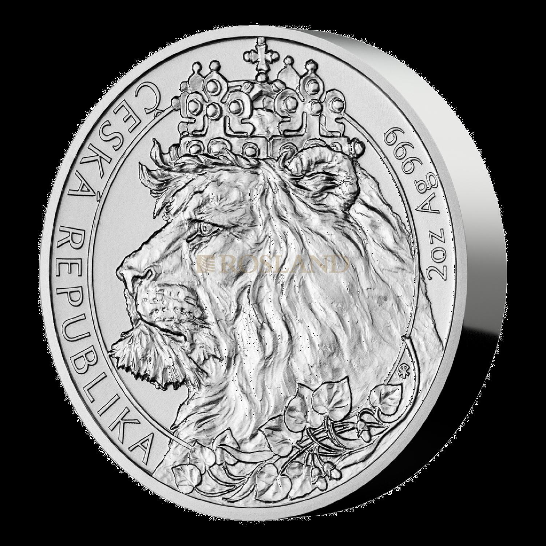 2 Unzen Silbermünze Tschechischer Löwe 2021