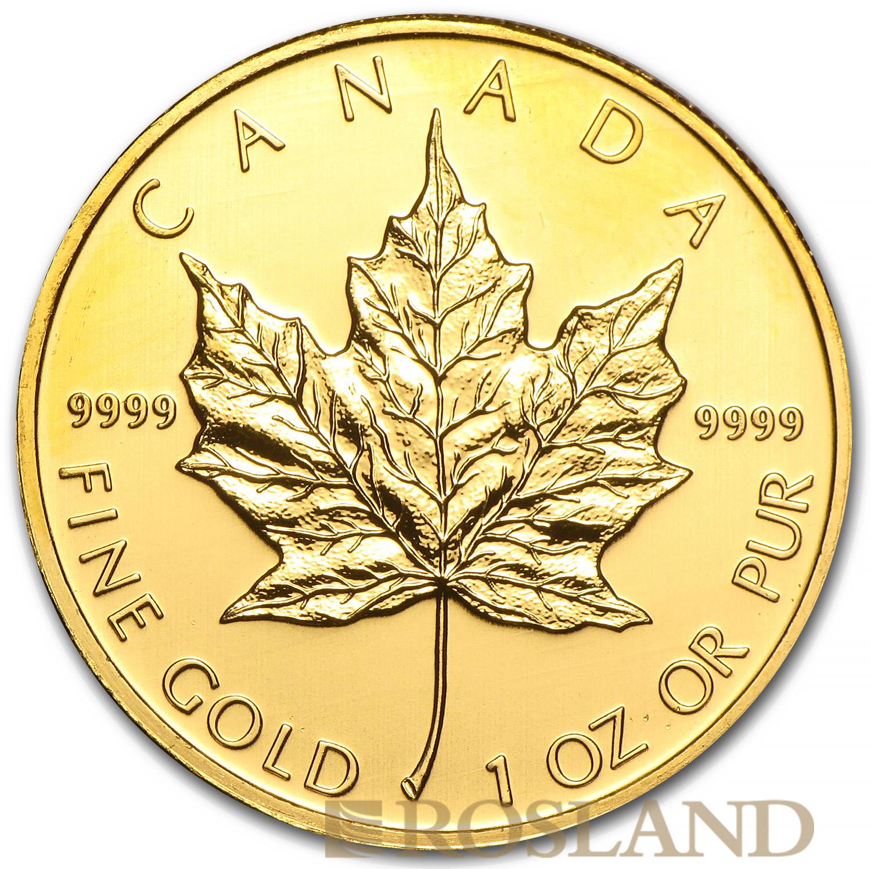 1 Unze Goldmünze Kanada Maple Leaf 2010