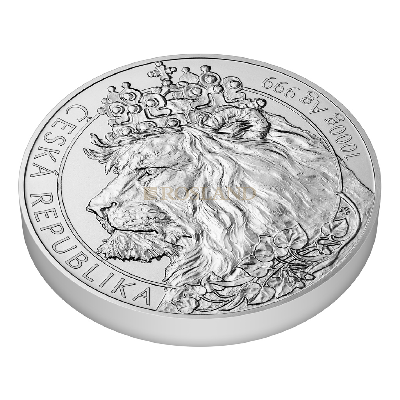 1 Kilogramm Silbermünze Tschechischer Löwe 2021
