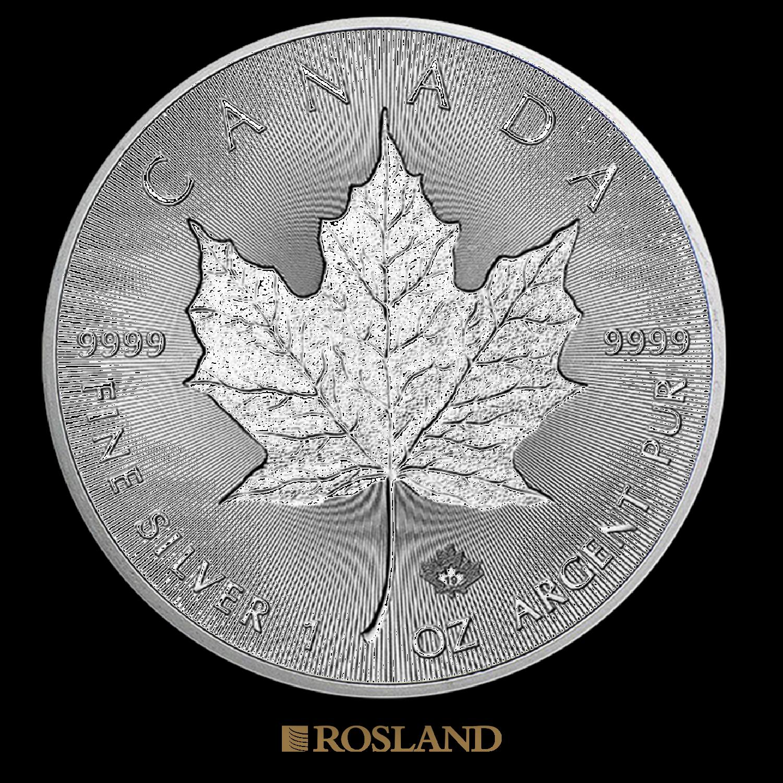 1 Unze Silbermünze Kanada Maple Leaf 2019 Incuse Edition