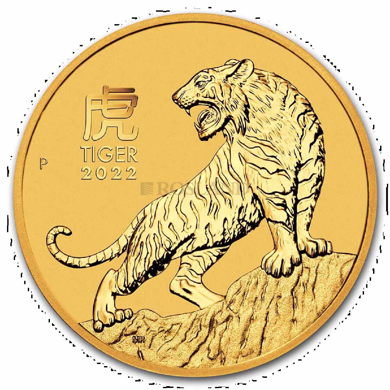 1/2 Unze Goldmünze Lunar 3 Tiger 2022