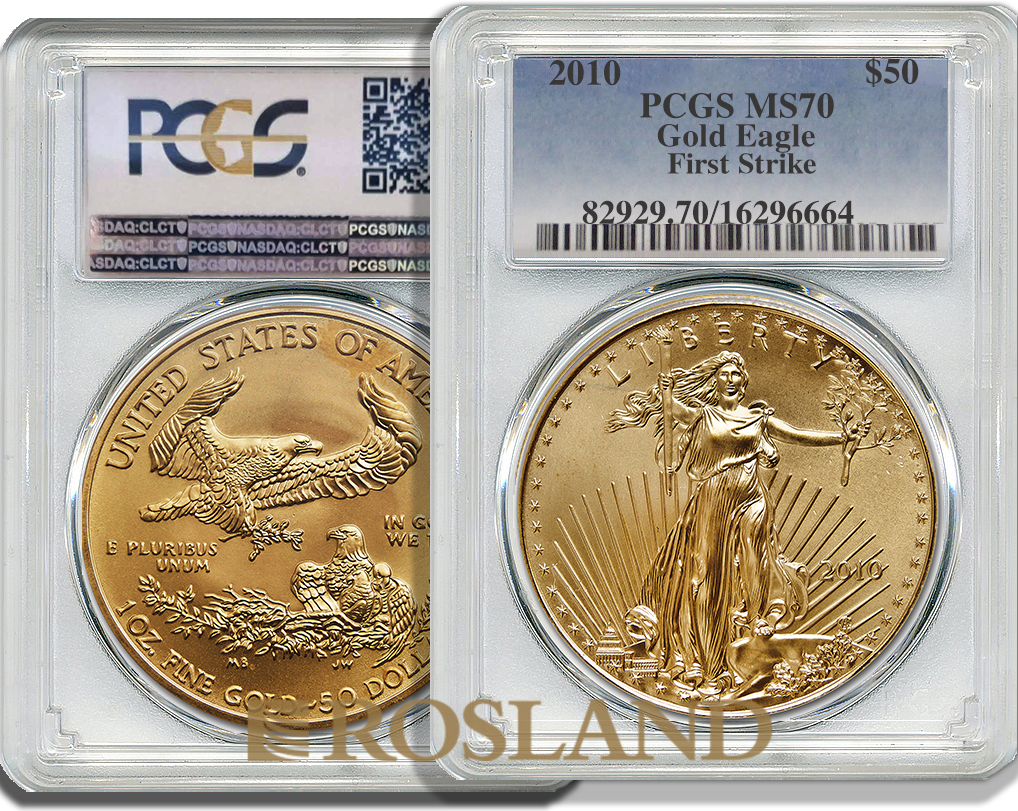 1 Unze Goldmünze American Eagle 2010 PCGS MS-70 (FS)
