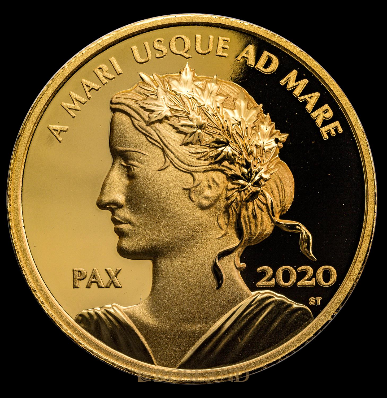 1 Unze Goldmünze Canada Peace Dollar 2020 PP (.99999, UHR, Box, Zertifikat)