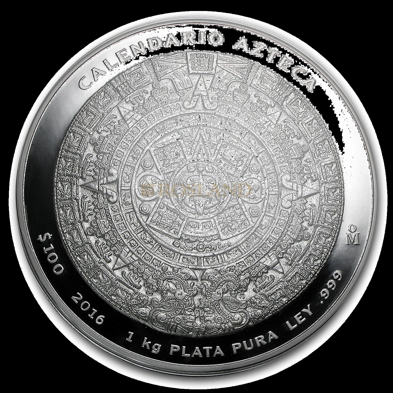 1 Kilogramm Azteken-Kalender 2016 (Box, Zertifikat ohne Verpackung und Lupe)