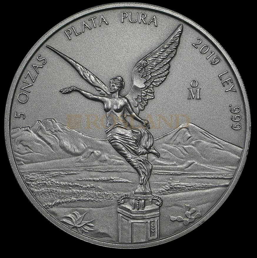 5 Unzen Silbermünze Mexican Libertad Antik Design 2019