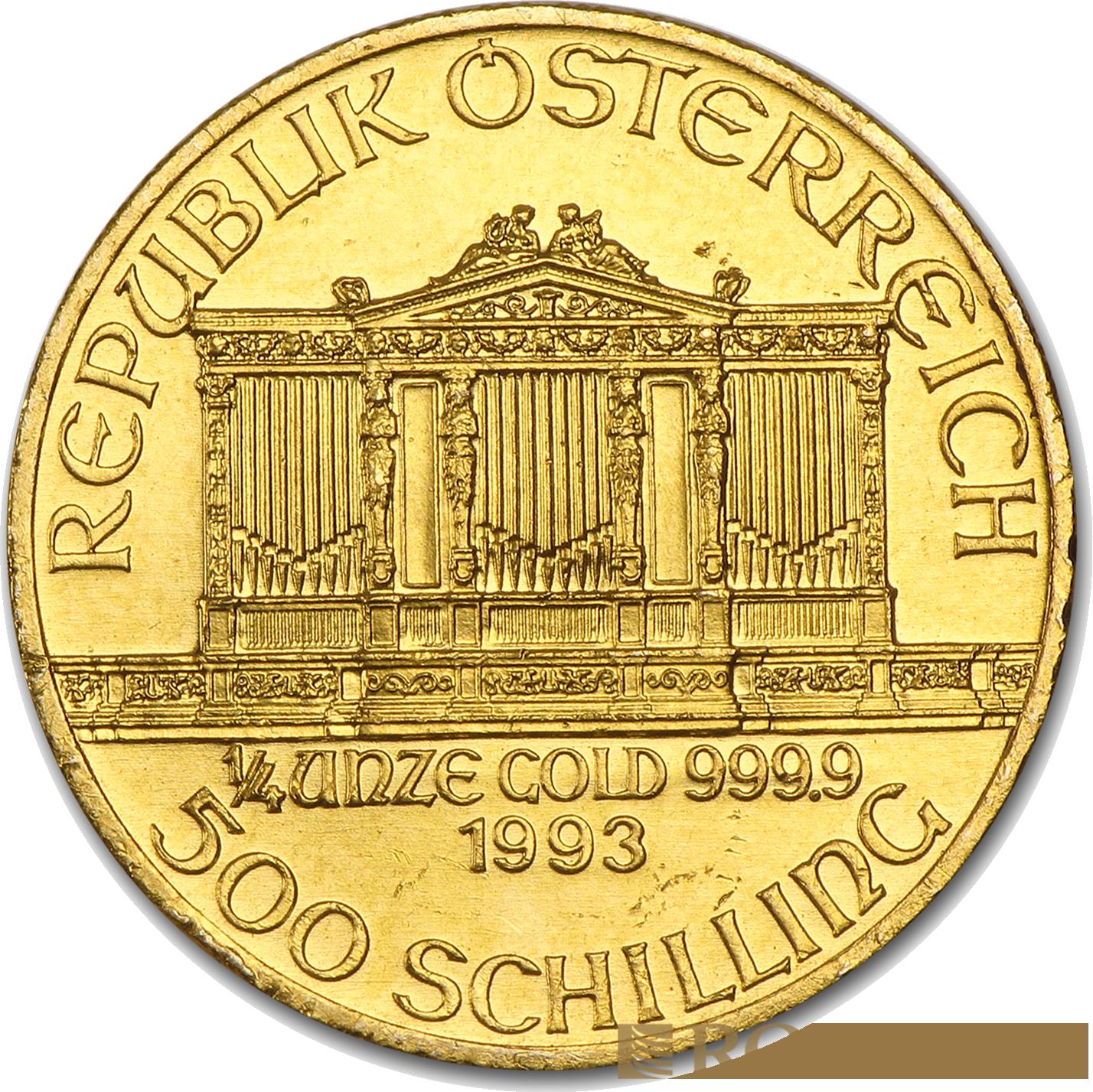 1/4 Unze Goldmünze Wiener Philharmoniker 1993