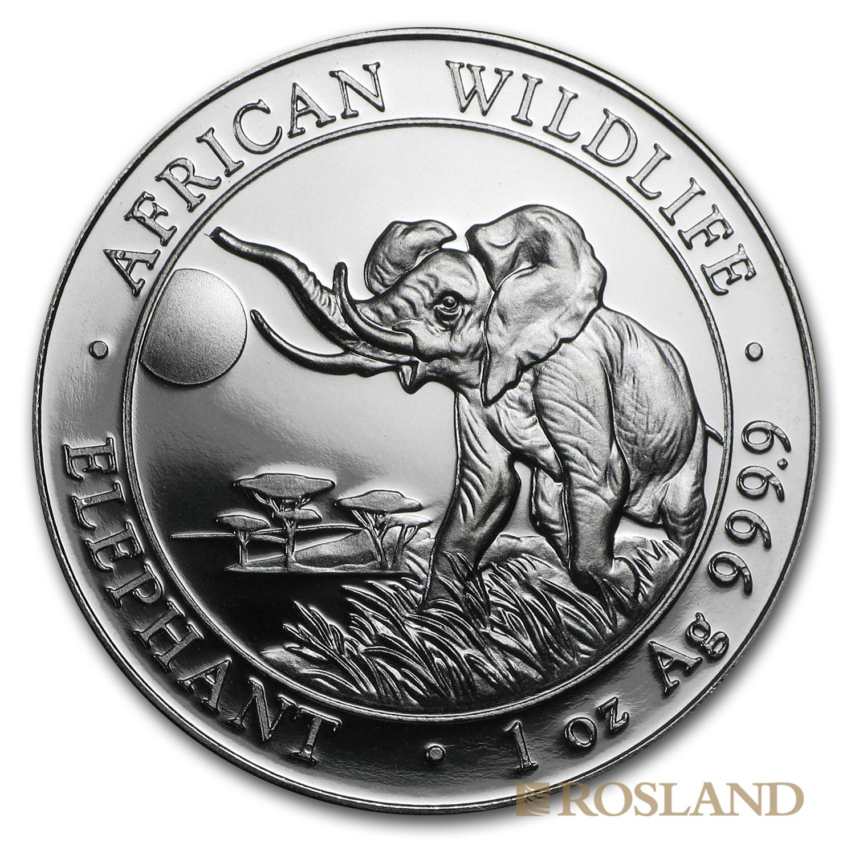 1 Unze Silbermünze Somalia Elefant 2016