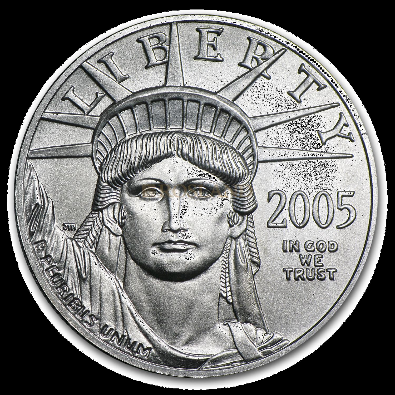 1 Unze Platinmünze American Eagle 2005