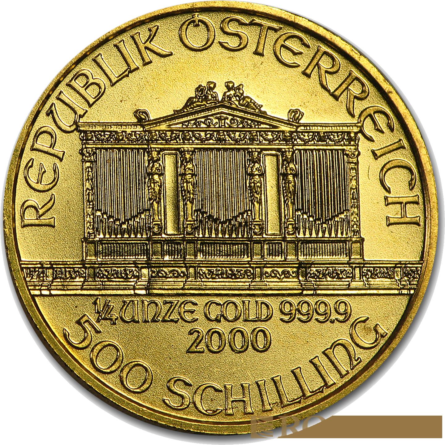 1/4 Unze Goldmünze Wiener Philharmoniker 2000