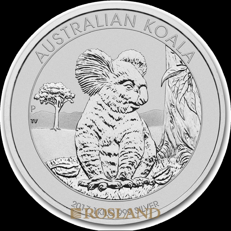 1 Kilogramm Silbermünze Koala 2017