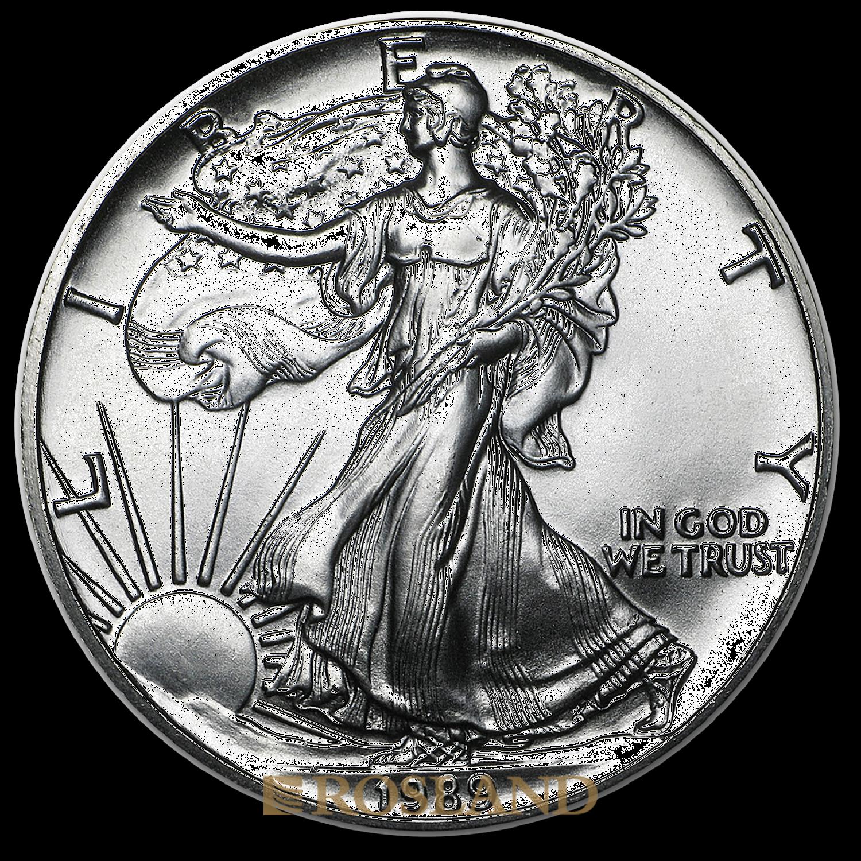1 Unze Silbermünze American Eagle 1989