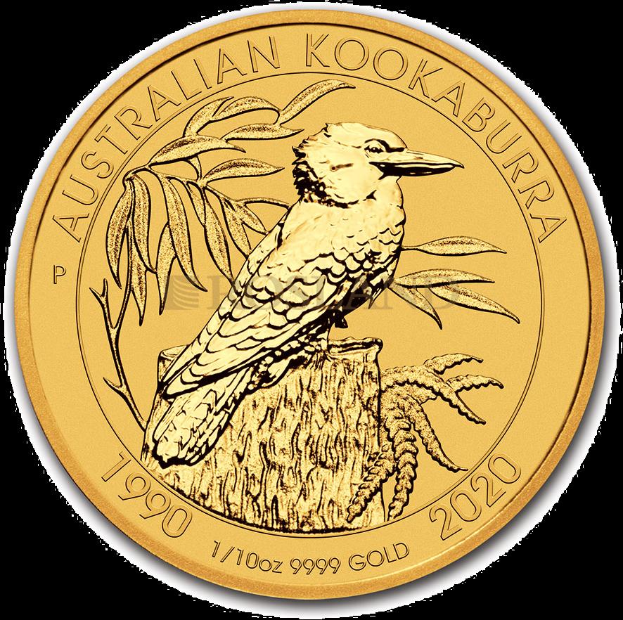 1/10 Unze Goldmünze Perth Mint Kookaburra 2020