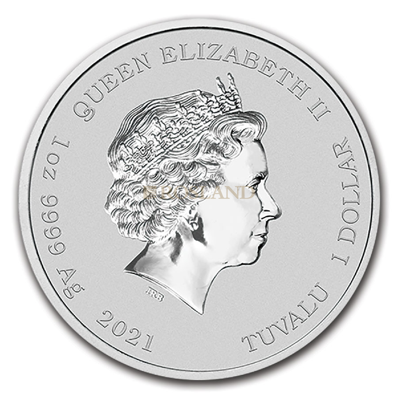 1 Unze Silbermünze 007 James Bond 2021 (Vergoldet)