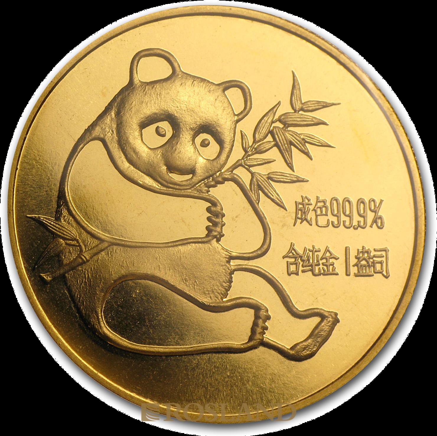 1 Unze Goldmünze China Panda 1982