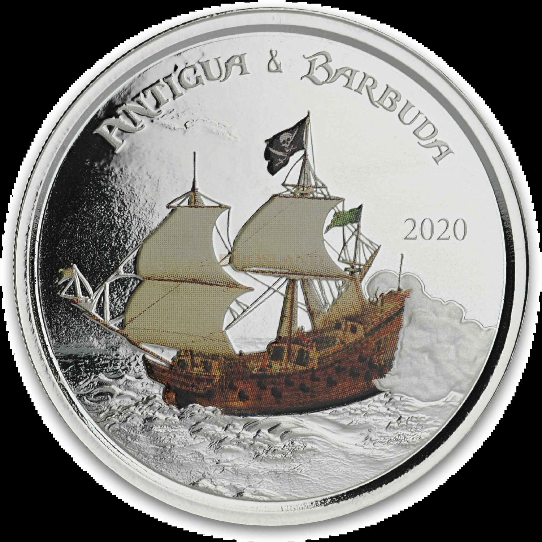 1 Unze Silbermünze EC8 Antigua & Barbuda Rum Runner 2020 PP (Koloriert, Box)
