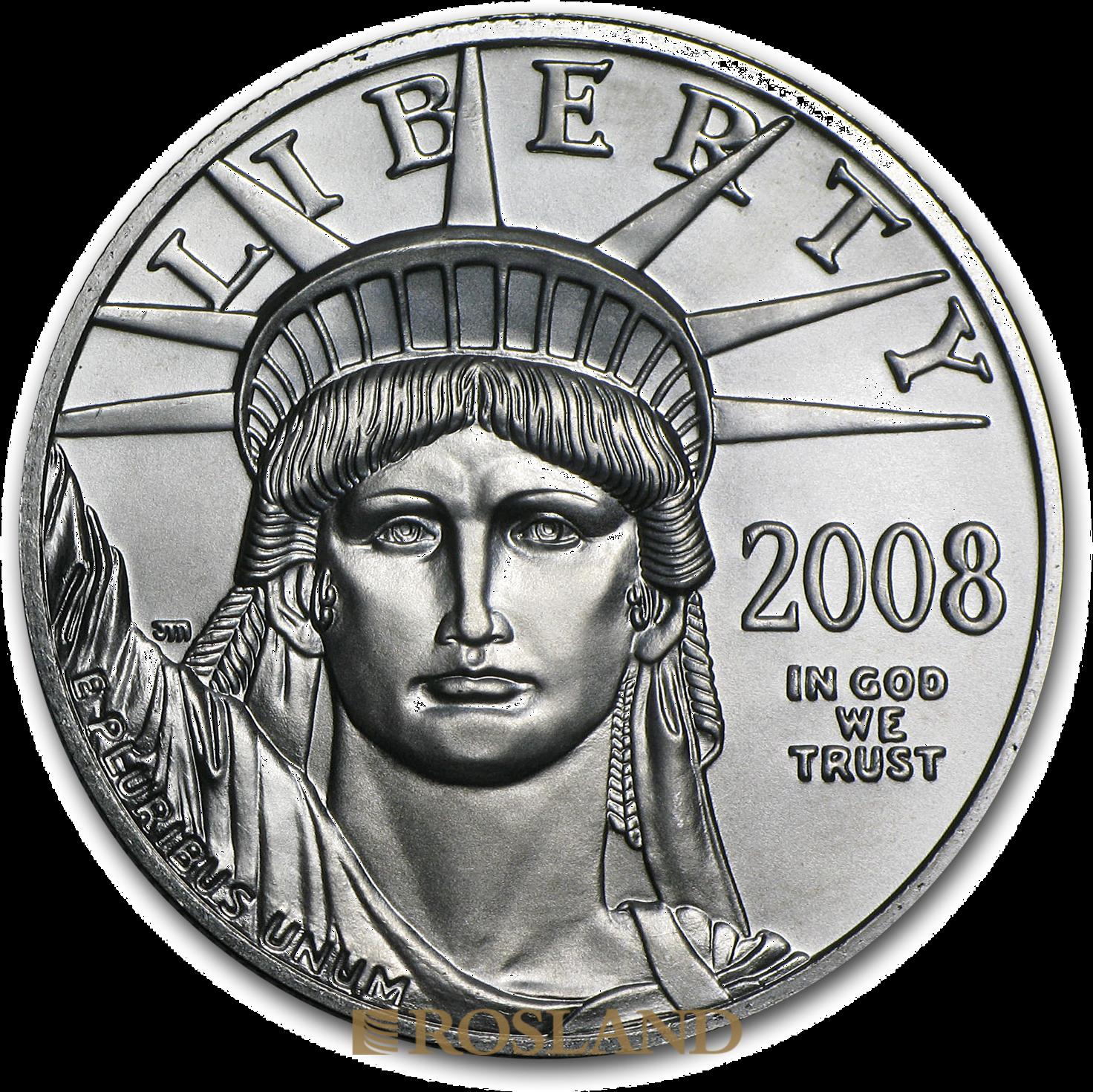 1 Unze Platinmünze American Eagle 2008