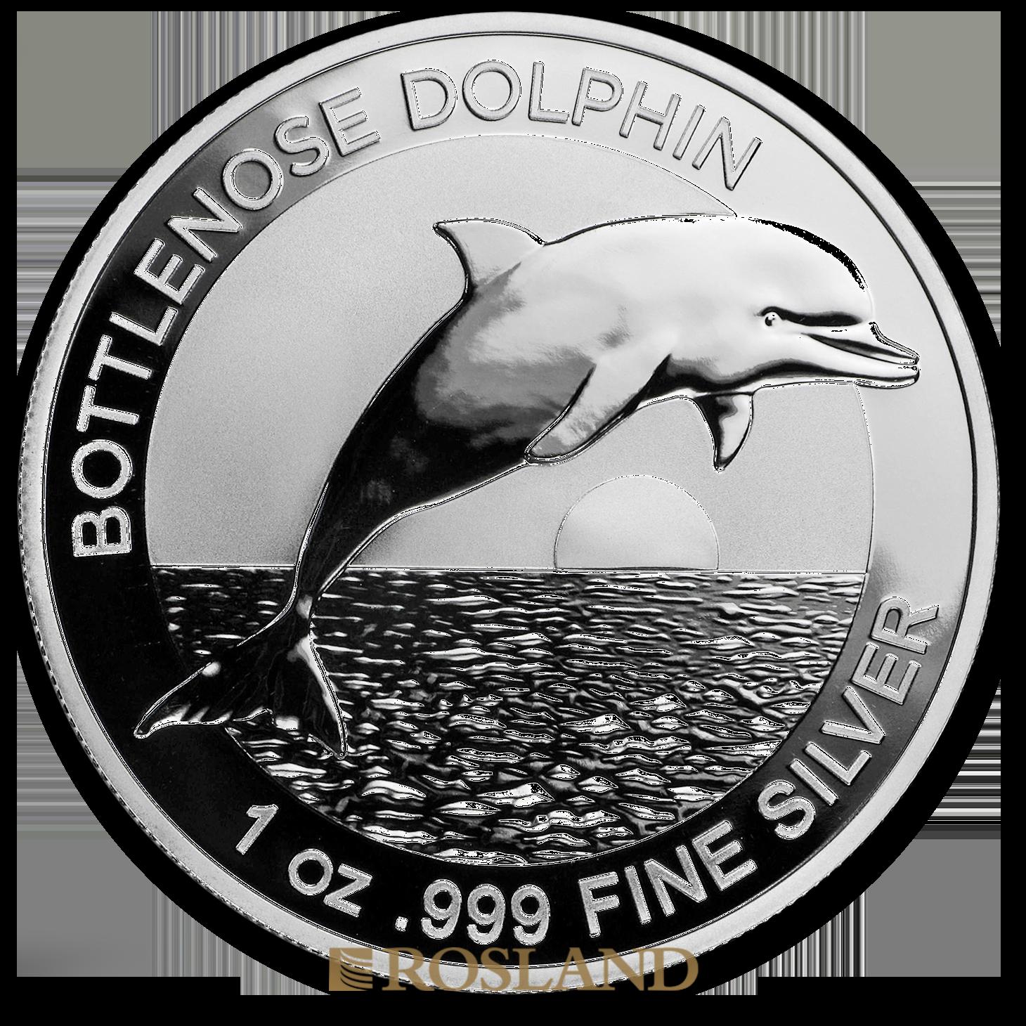 1 Unze Silbermünze Bottlenose Dolphin 2019
