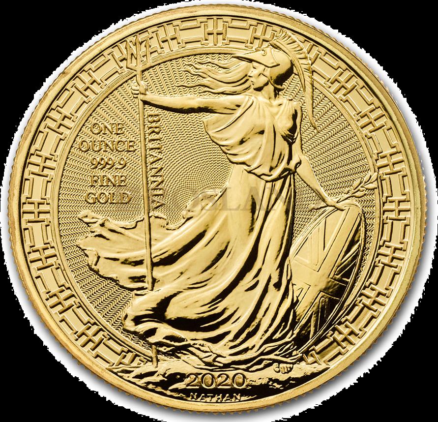 1 Unze Goldmünze Britannia 2020 - Oriental Border