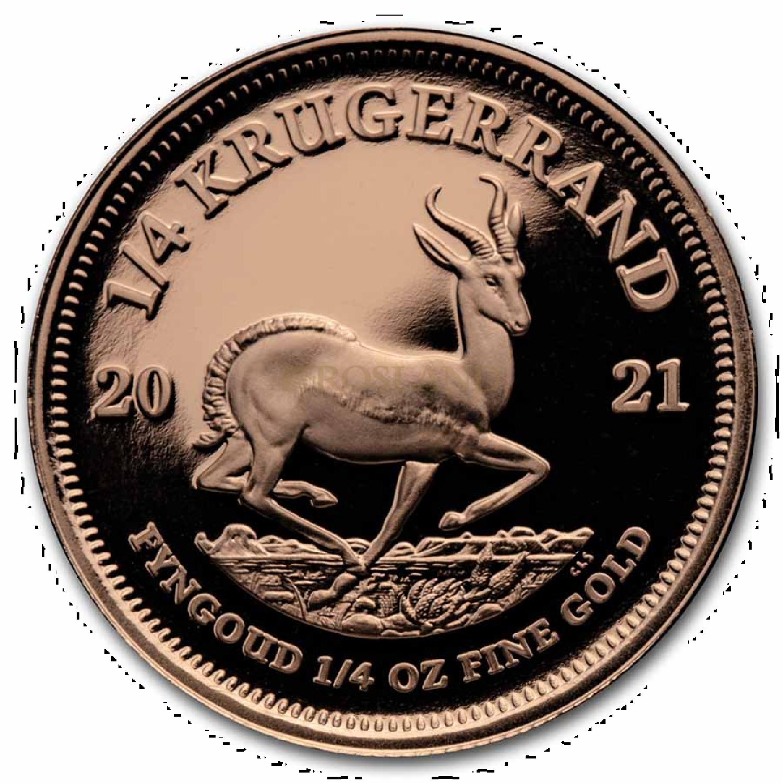 1/4 Unze Goldmünze Krügerrand 2021 PP (Box, Zertifikat)