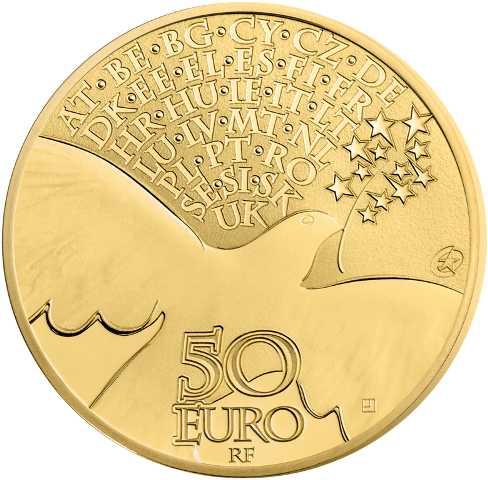 1/4 Unze Goldmünze 70 Jahre Frieden in Europa 2015 50€