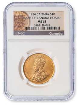 Canada Hoard $10 George V 1912-1914