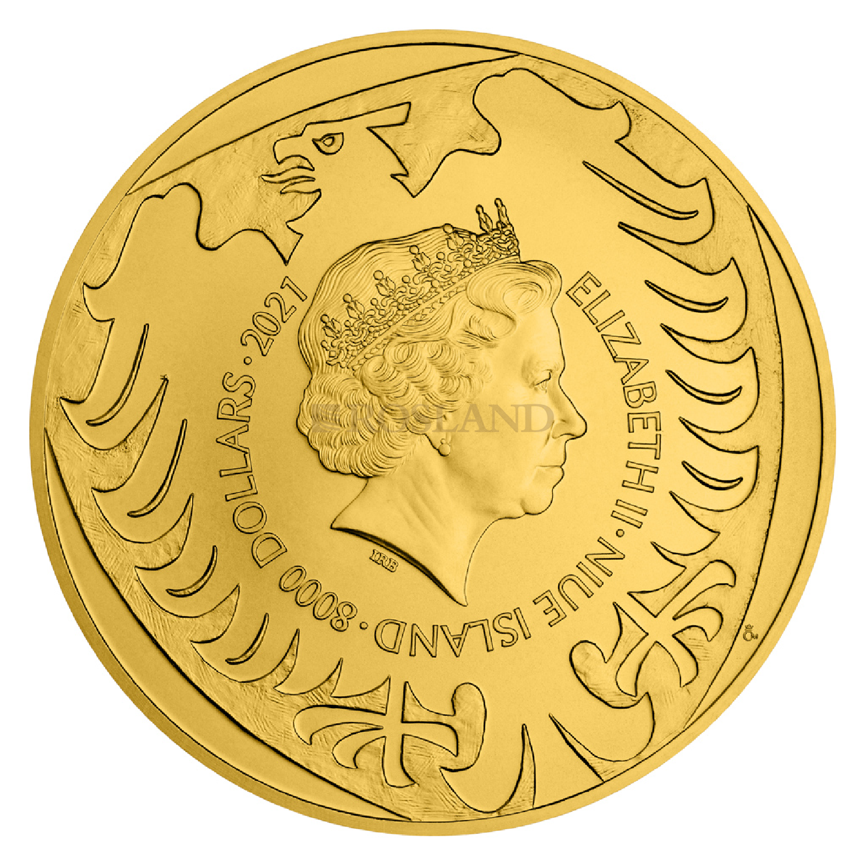 1 Kilogramm Goldmünze Tschechischer Löwe 2021 (Box, Zertifikat)