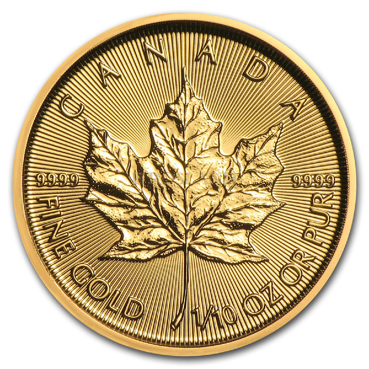 1/10 Unze Goldmünze Kanada Maple Leaf 2021