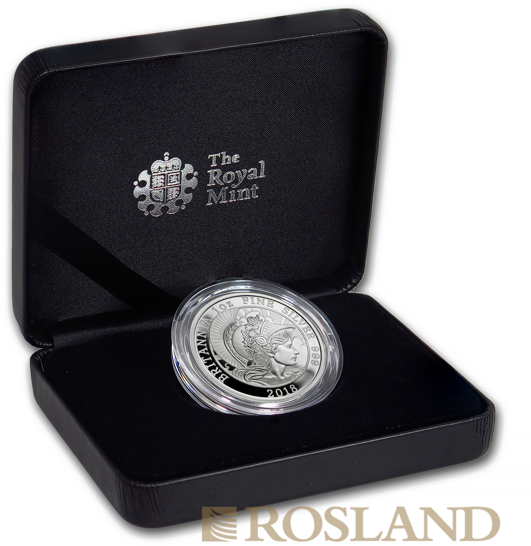 1 Unze Silbermünze Britannia 2018 PP (Box, Zertifikat)