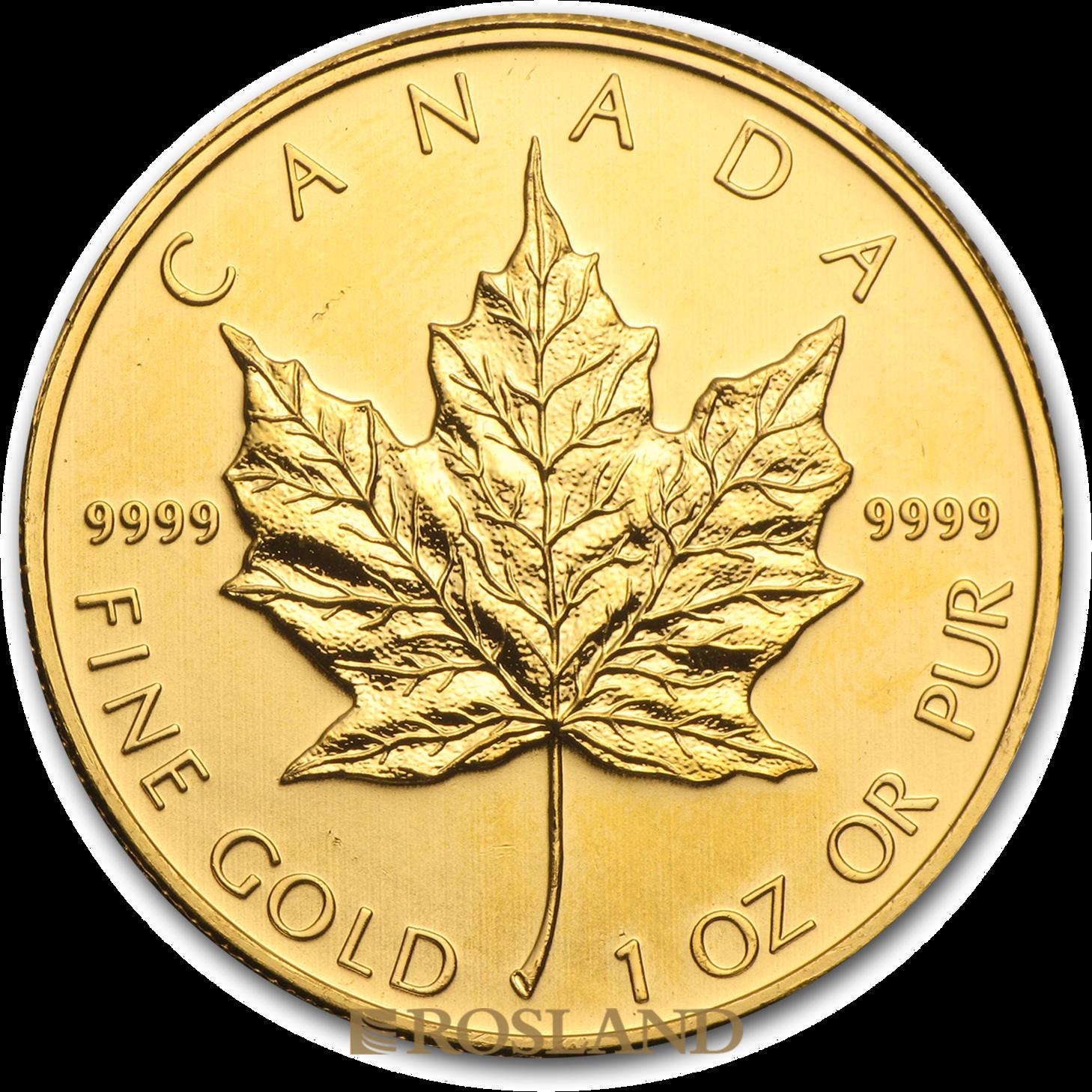 1 Unze Goldmünze Kanada Maple Leaf 2011