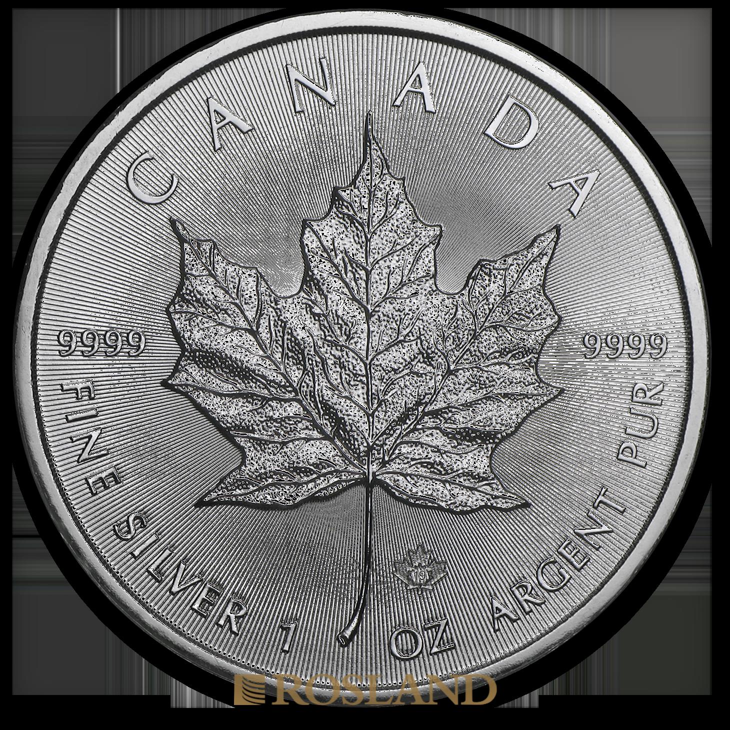 1 Unze Silbermünze Kanada Maple Leaf 2019