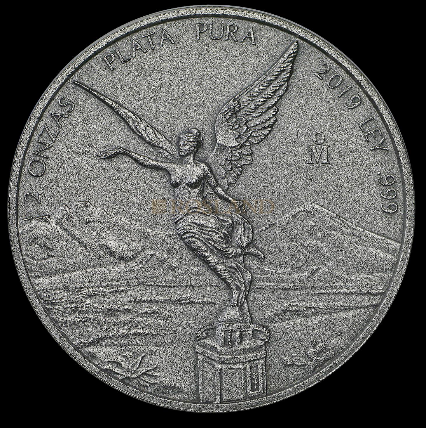 2 Unzen Silbermünze Mexican Libertad Antik Design 2019